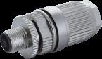M12 male 0° L-cod. field- wireable (IDC)