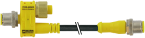 T-coupler M12male /M12male+cable +M12female