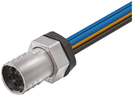 MQ15-X-Power fem. receptacle shielded front mount